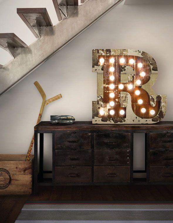 Lampes Alphabet Typographique, delightfull