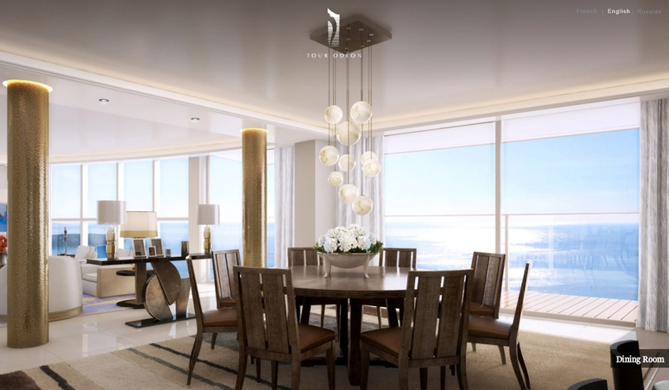 Monaco-Penthouse-formal-dining-with-pendant-lighting-and-ocean-views1