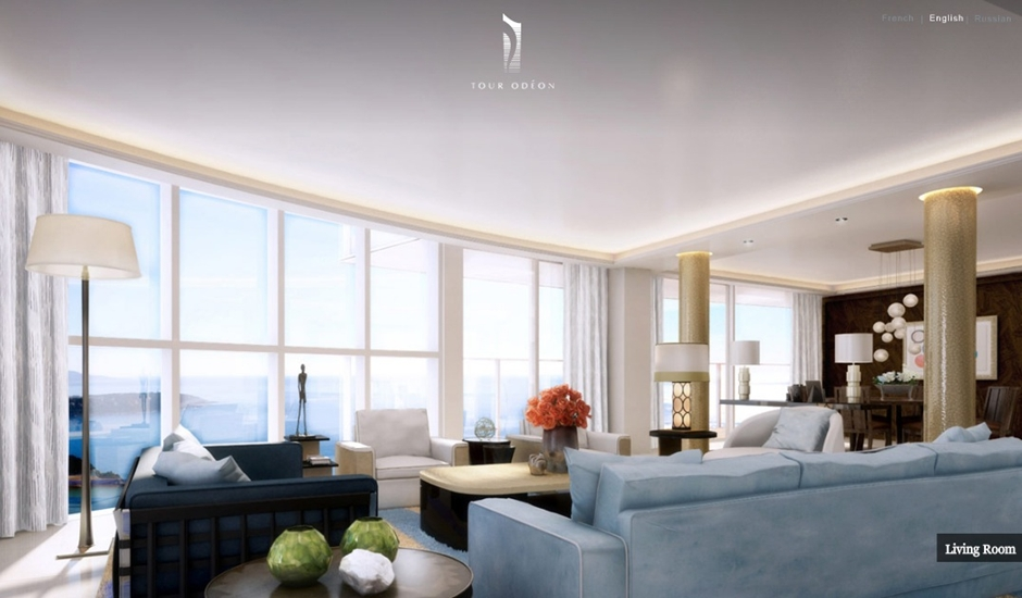 Monaco-Penthouse-ice-blue-open-plan-modern-living-dining-with-ocean-view1