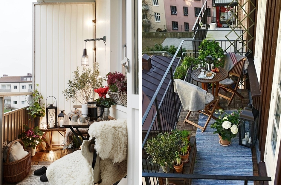 Dekor balkon ikea for Cute apartment balcony ideas