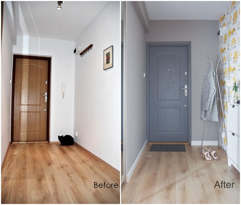 before after korytarz
